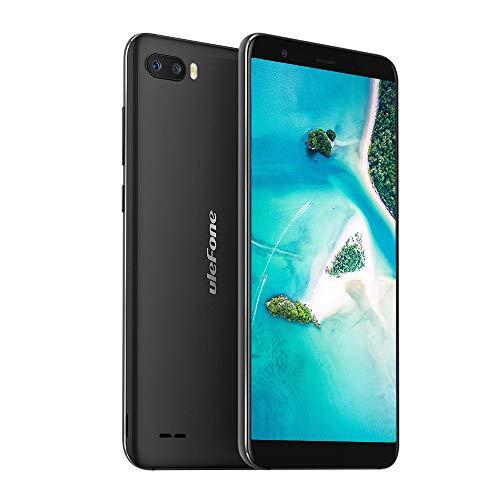 Ulefone S1 Pro 2019 4G LTE Smartphone ohne Vertrag Dual SIM 5,5 Zoll Touchscreen 16GB ROM 128GB erweiterbar, 13MP+8MP Dual Kamera Gesichts ID, Android 8.1 (Go Edition) Handy Günstig - Schwarz