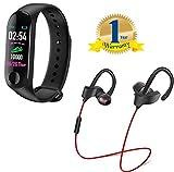 Limeswood M3 Band Bluetooth 4.0 Sweatproof Smart & Sleek Fitness Wristband with Qc10