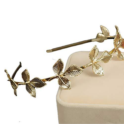 Damen Stirnband romantische Göttin Blätter Hairband Exquisite Wild handgemachte Haar Span geschneidert Hochzeit Party Prom Schönheit Pageant Geburtstagsparty