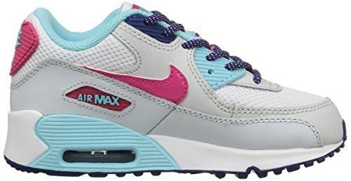 Nike Air Max 90 Mesh (Ps) Scarpe Sportive, Ragazza White / Pink