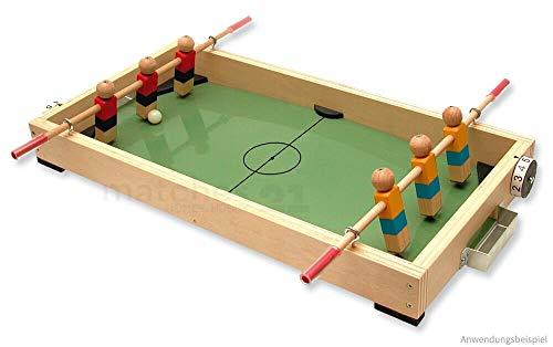 matches21 Tisch-Fußball Mini Kicker Tischkicker Holz Bausatz f. Kinder Werkset Bastelset ab 12 Jahren