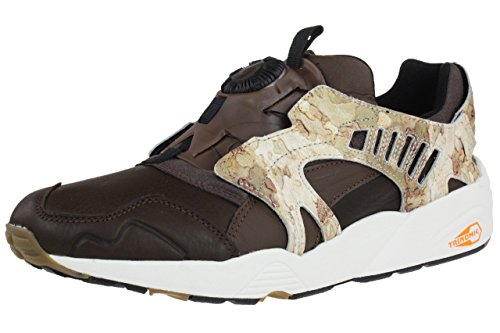 Puma Trinomic Disc Camo Blaze Sneaker Men Trainers 357366 01 brown leather