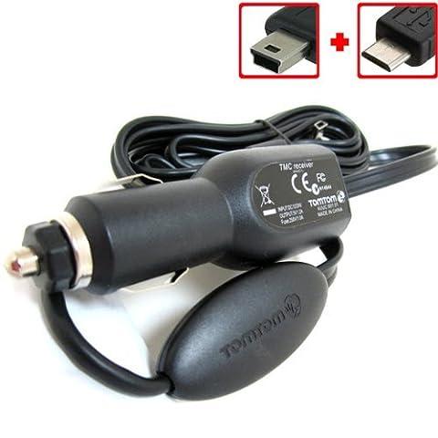 TomTom GPS RDS TMC Traffic Récepteur USB Chargeur Voiture Véhicule Câble d'alimentation pour GO 40505160615005106006105000510060006100Live 80082082510051535Start 2025405060via 120125130135XL XXL IQ Routes Live 30XLT One V4V5Regional & Europe GPS Navigator (les deux Mini et Micro USB)