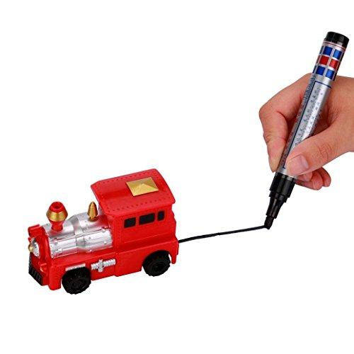 2017Neueste dikewang Stress Reliver Best Kinder Kinder Spielzeug Geschenk, Folgen Neuestes Modell Induktive Auto Truck jedem gezogenen Line Magic Pen