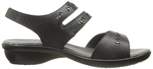 Propet Keeley Large Cuir Sandale Black
