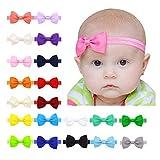 20 colores Diademas Bebe Niña,Diademas Elásticas para niñas,Bowknot Mini diadema