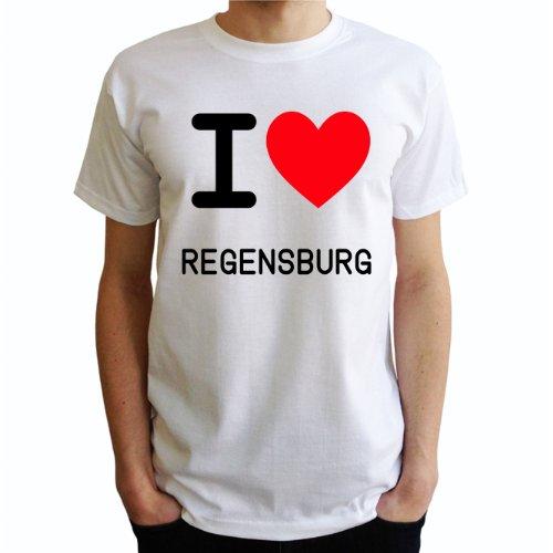 I love Regensburg Herren T-Shirt Weiß