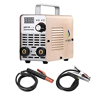 ARC Welder ARC120 DC Stick 220V MMA Inverter Welding Machine Mini Portable Style 2.5mm Rod Stick Welder with Earth Clamp Electrode and Toolbag HITBOX