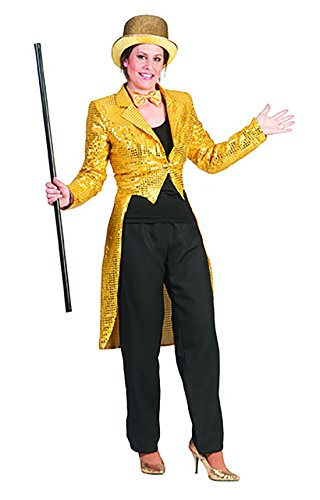 Luxuspiraten - Pailletten besetztes Jacket Kostüm für Frauen, M, - Frechen Zauberin Kostüm