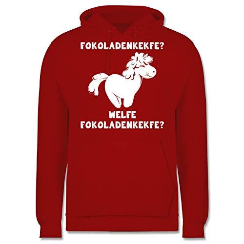 Shirtracer Einhörner - Fokoladenkekfe Einhorn - XS - Rot - JH001 - Herren Hoodie und Kapuzenpullover für Männer