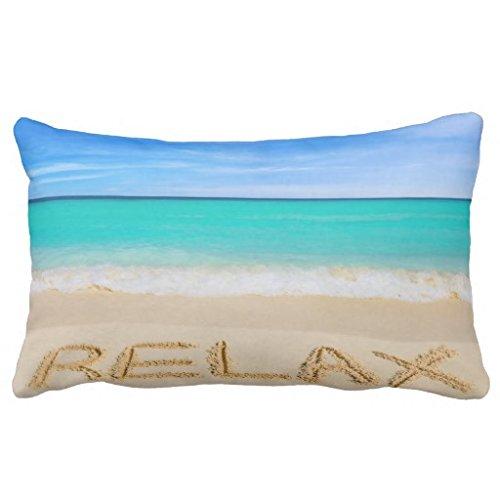 cheyan Relax Beach Surf Kissen sand Rechteck Baumwolle Lendenkissen, 33x 53,3cm Surf-throw-kissen