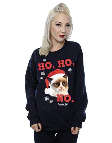 Grumpy Cat Damen Ho Ho No Christmas Sweatshirt Medium Deep Navy