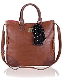 Primark - Bolso de tela para mujer marrón marrón ...
