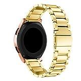 Yallylunn Luxus Edelstahl socken Ersatzsocken Kompaktes Fitnesssocken Austauschbarem Klassischem Uhrendesign FüR Samsung Galaxy Watch 42Mm