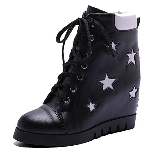 agoolar-womens-low-top-lace-up-soft-material-high-heels-round-closed-toe-boots-black-44