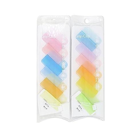Zhi Jin Candy Couleur Test fichier multi-usage Nourriture Étanchéité Pince de maintien photos signets Sujet Classification Clip Mix colour random