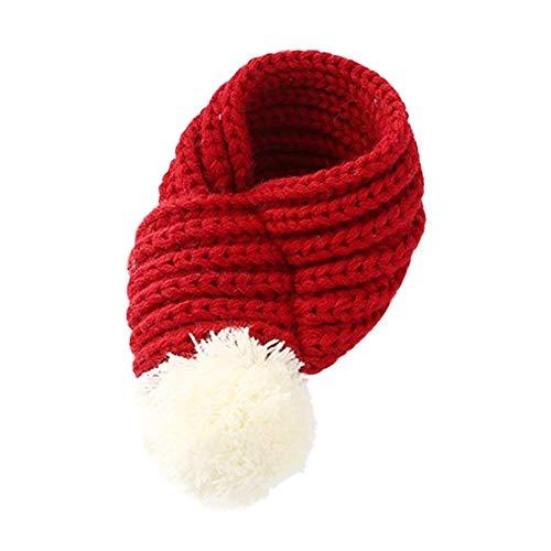 Yonfan Hundehalstuch Weihnachten Hundeschal für Kleine Hunde Katzen Haustier Kostüm, Rot