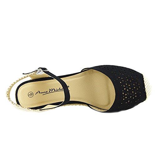 Kick Footwear - Donna Tacchi Comodi Slingback Cinturino Alla Caviglia Gladiatore Sandali Estivi Nero - 1