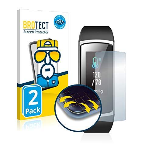 BROTECT Full-Cover Schutzfolie kompatibel mit Yamay Fitness Tracker SW336 (2 Stück) - Full-Screen Displayschutz-Folie, 3D Curved, Kristall-Klar
