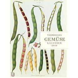 Thorbeckes Gemüse Kalender 2019 - Thorbecke-Verlag - Bild-Text-Kalender - Wochenplaner - Kunstkalender mit Informationen - 24 cm x 32 cm