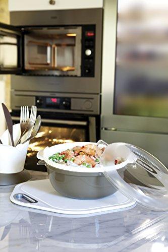 _ Bama Cooky Contenitore per la Cottura nel Microonde, Tortora, 25 cm prezzo