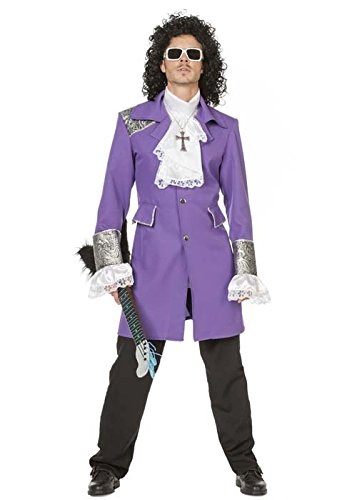 Adult Mens 1980s Deluxe Purple Prince Costume - Small to XXL