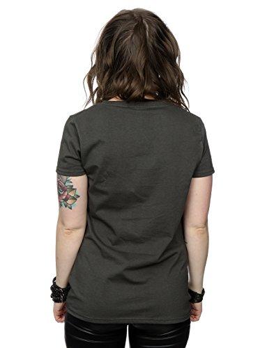 Rolling Stones Damen Distressed Tongue T-Shirt Licht Graphite