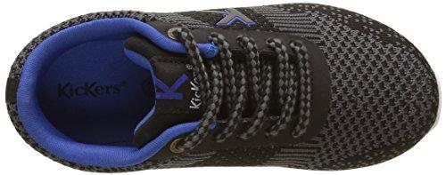 Kickers Jungen Knitwear Sneaker Noir (Noir/Gris)
