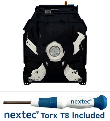 320-gb-modell (Neu - Sony PS3 Bluray Laufwerk - 160, 320 GB Slim Modelle - (KES-450E/ KEM-450EAA Laser) + Nextec® Torx T8 Security Schraubendreher)
