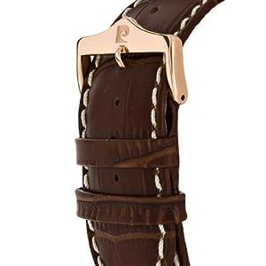 Pierre Cardin PC103601F01 - Reloj cronógrafo de caballero de cuarzo con correa de piel marrón (cronómetro) - sumergible a 30 metros de Pierre Cardin