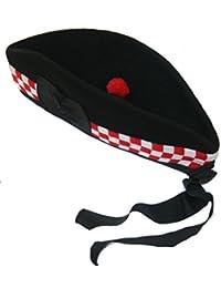 Maze Schottische Glengarry-Mütze aus 100% Reiner Wolle Hut barett