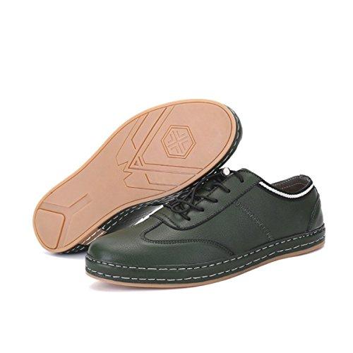 Lyzgf Hommes Occasionnels Printemps Et Automne Affaires Décontractées Chaussures En Dentelle Verte