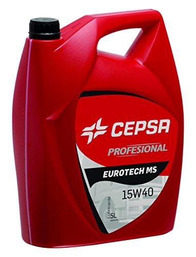 CEPSA 524033072 Eurotech MS 15W40 Synthetisches Motoröl, 5L