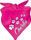 KLEINER FRATZ Hunde Dreiecks Halstuch (Fb: pink) (Gr. 1 (55 cm)) Name des Hundes