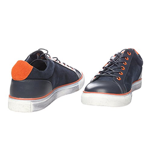 RIFLE Chaussures Homme Baskets, Plates Avec Lacets. mod. 162-M-303-604 Bleu - Orange