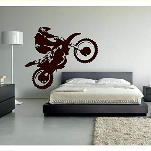 Mrhxly Motocross Vinilo Tatuajes De Pared De La Motocicleta Moto Wall Art...