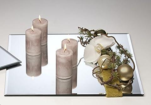 Sandra Rich he.6 Plateau miroir carré 25x 25x 0,5cm