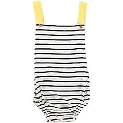 Bebé Mono SMARTLADY Verano Unisex Bodies Ropa para 0- 24 meses Niño Niña (6-12 meses, Blanco)