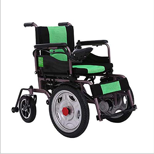 MZLJL Electric Wheelchair,Modern Intelligent Durable Disabled Elderly Folding Outdoor Comfortable Four-Wheeled Hand Push/Electric Electric Wheelchair(Lithium Battery) - Electric Power Stuhl