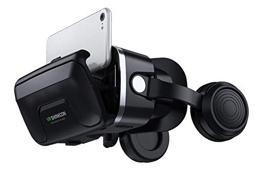 VR Brille für 3D Filme Video Movie Game Brille 3D VR Brille Kompatibel mit 4,7~6,0 Zoll Smartphones.