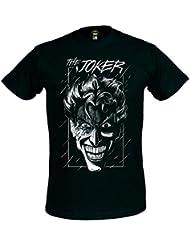 T-shirt Batman Evil Joker style bande dessinée coton noir