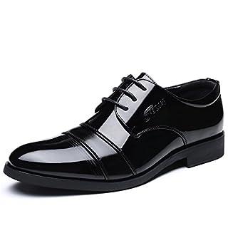 Jingkeke Herren-Flache Absatzkappe mit Zehenspitzen Zehenspitzen der neuen Herren Business-Business-Schuhe auffällig (Color : Schwarz, Größe : 40 EU)