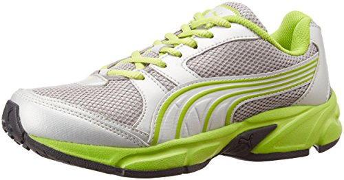 Puma Men's Green and Silver Synthetic Running Shoes (18802401) - 7UK/India (40.5EU)