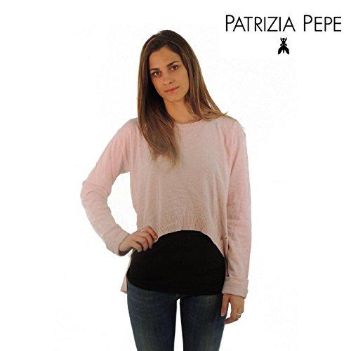 Patrizia Pepe maglione donna tinta unita 8M0254A840 (2, ROSA)
