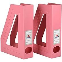 Acrimet Organizador de Revistas (Color Rosa Solido) (2 unidades)
