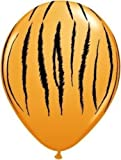 Safari Animal Tiger Print Balloons x 5 - Qualatex 11""