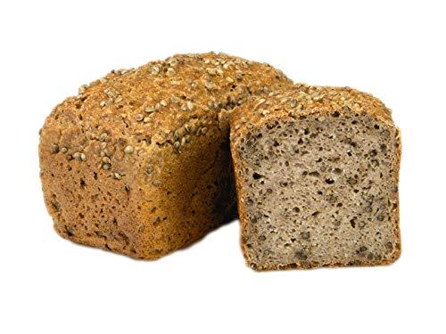 Kifferkruste 500 g Bio Buchweizenkeimlingsbrot mit knuspriger Hanfsaat - glutenfrei vegan basisch