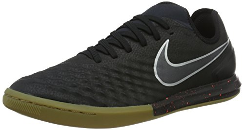 Nike Herren Magistax Finale II IC Fußballschuhe, Schwarz (Black/Black-Total Crimson-Gum Light Brown), 44 EU