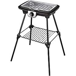 Tefal BG931812 Barbecue Électrique Multifonction sur Pieds Easy Grill 2 en 1 Cuisson Bbq Gril et Plancha Utilisation Intérieur et Extérieur 2100W