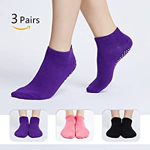moreFit Hot Yoga Socken, Rutschfeste Soft Grip Socken für Frauen Dance Pilates Barre Alle Arten Sport